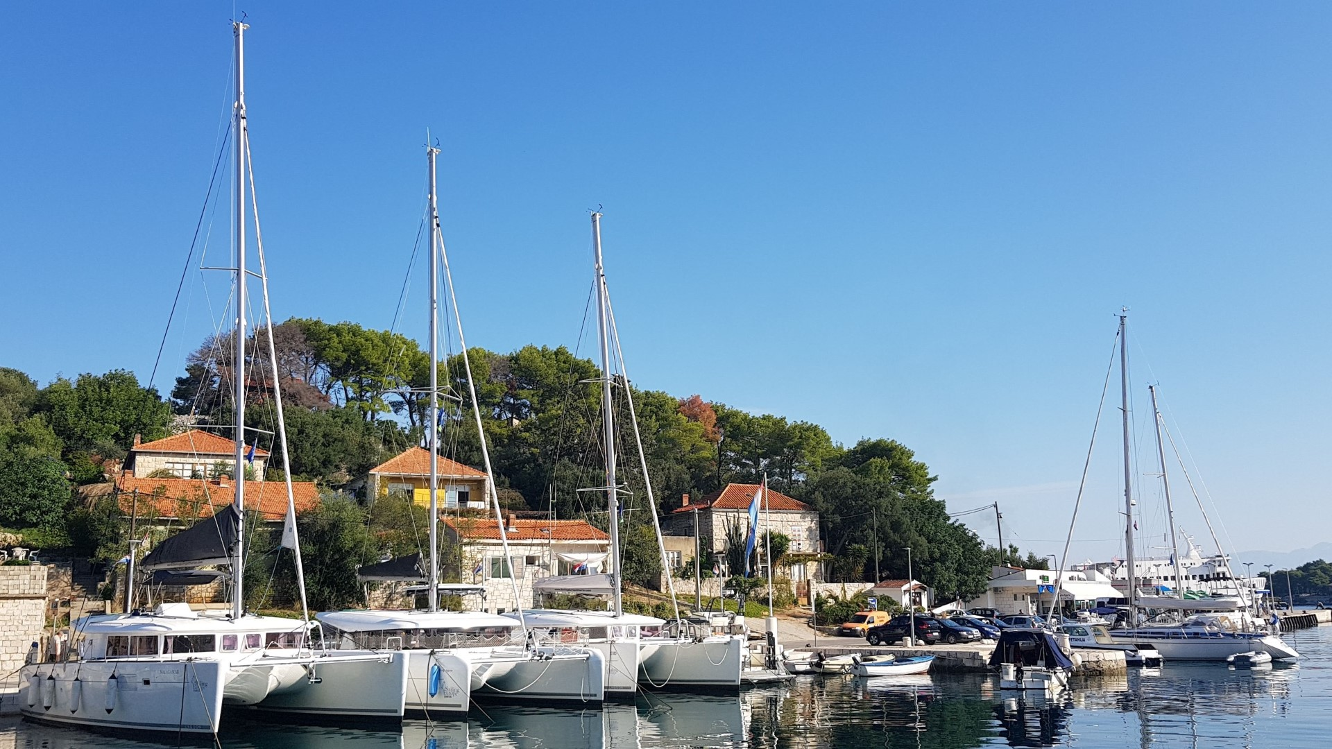 Marina Rogač - catamarans (photo taken 2019)