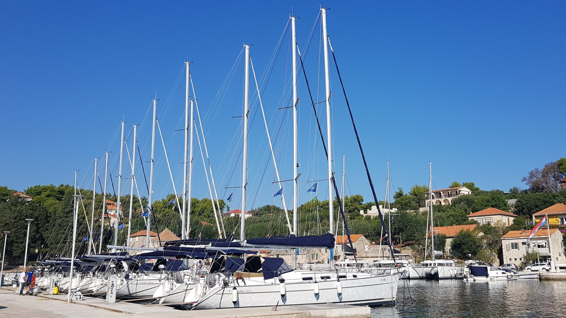 Marina Rogač - sailboats (photo taken 2019)