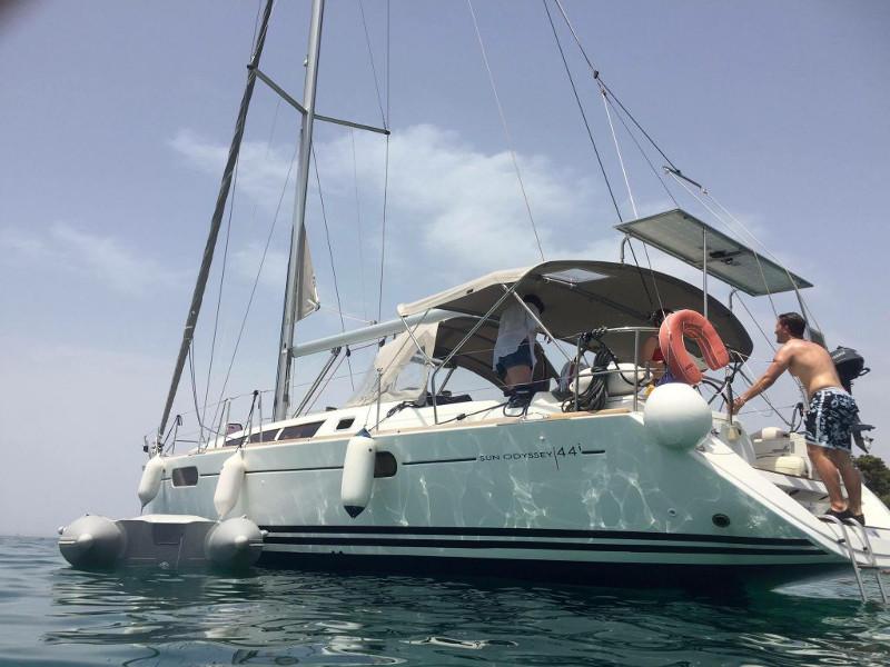 "Jeanneau Sun Odyssey 44i ""Ad Agio  - Bow & Solar"", Lefkada"