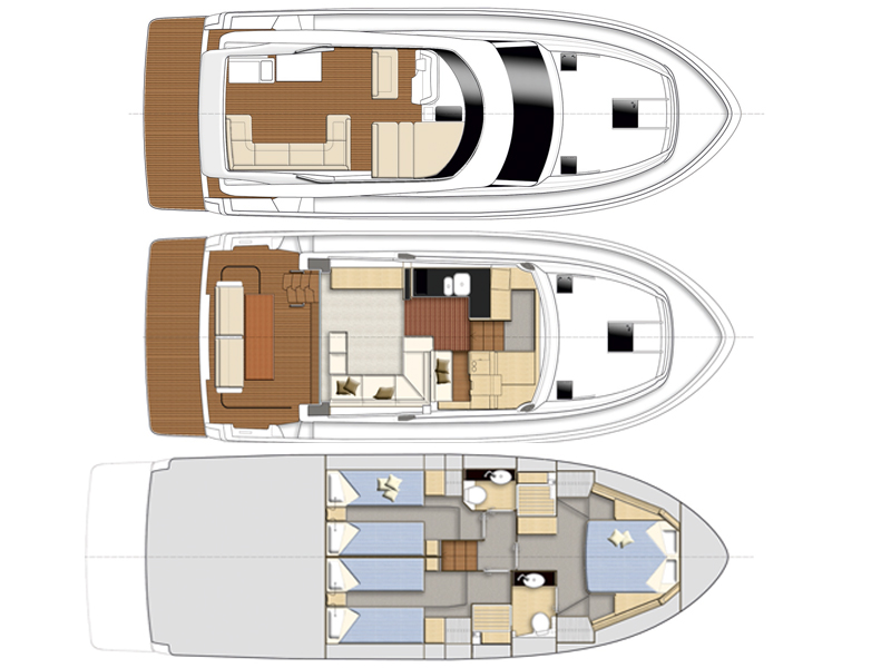 M/Y - Bavaria Virtess 420 Fly - 3 Cabins - Built 2018