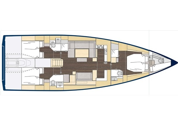 S/Y - Bavaria C57 Style - 3 Cabins - Built 2020