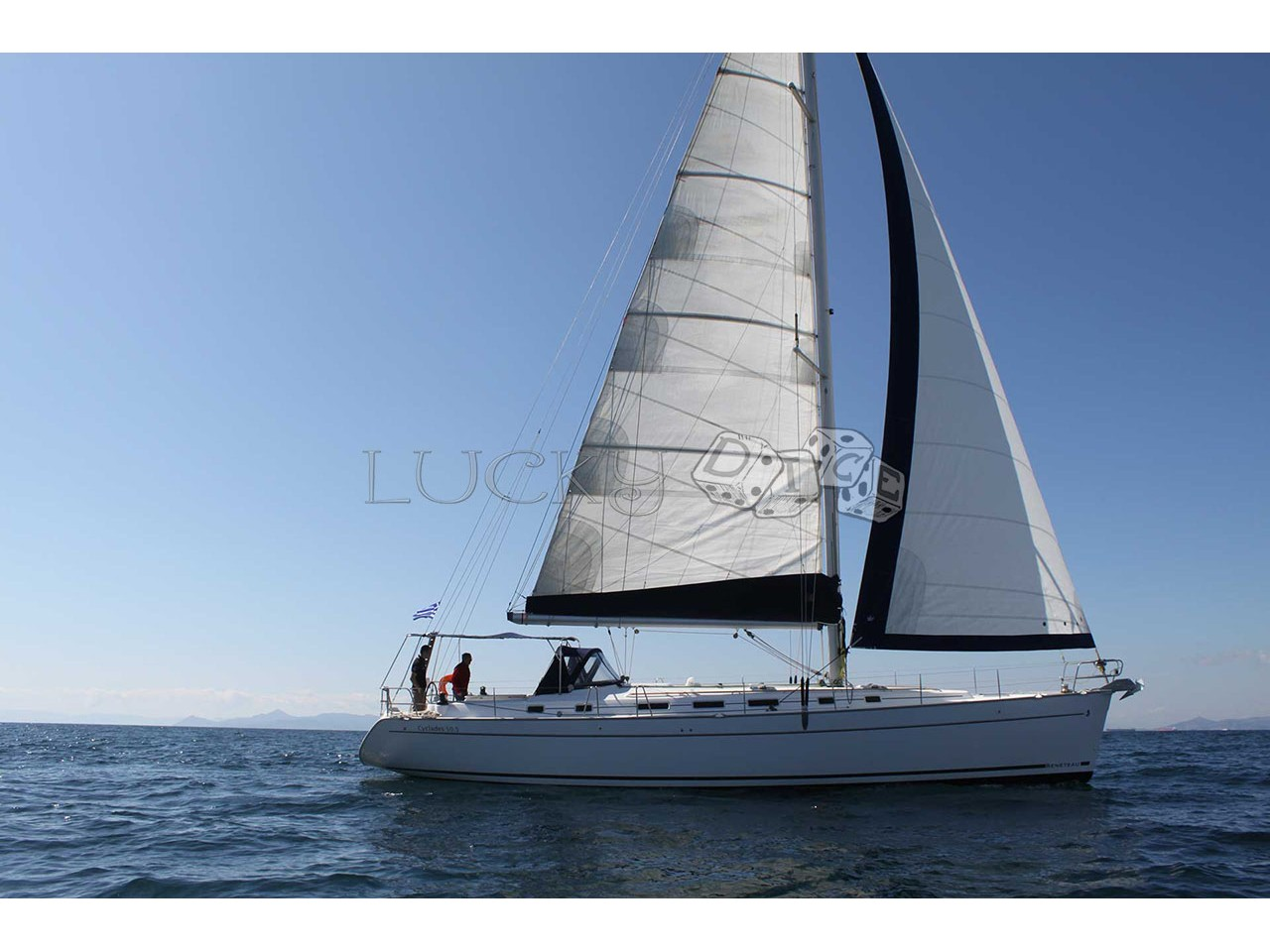"""Cyclades 50.5 """"Lucky dice - (A/C - Generator - Refit 2020)"""", Athens"""