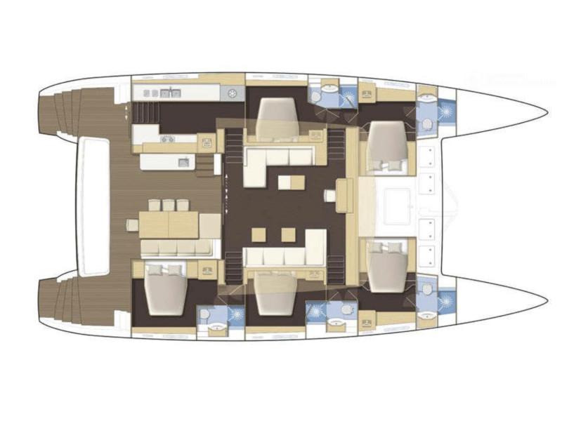 Lagoon 62 - 5 cabin version