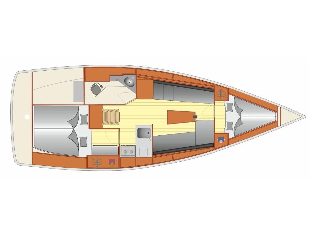 S/Y - Bavaria Cruiser 34 - 2 Cabins - Built 2019