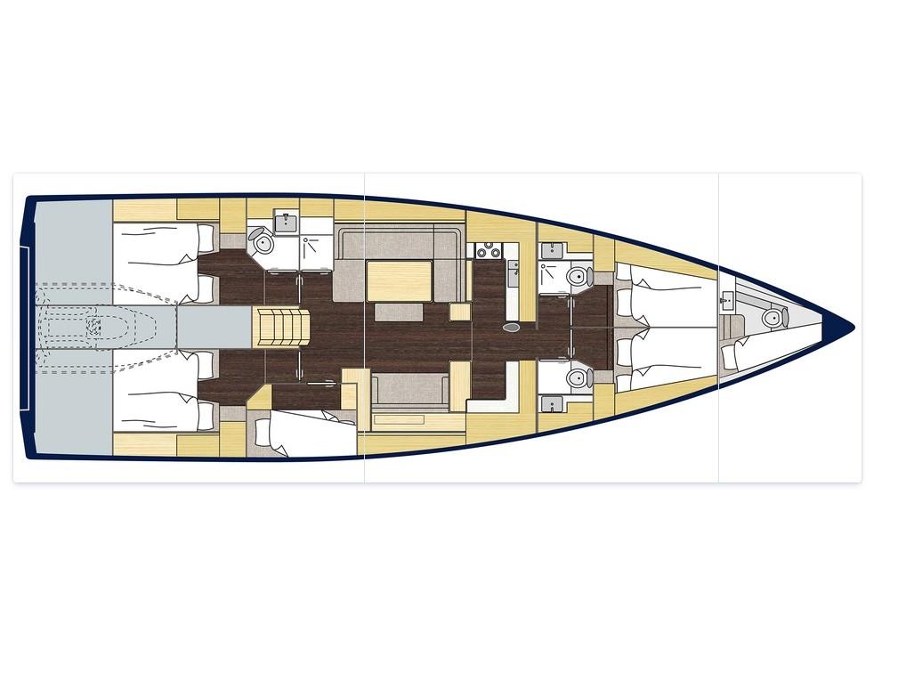S/Y - Bavaria C57 - 5 Cabins - Built 2019