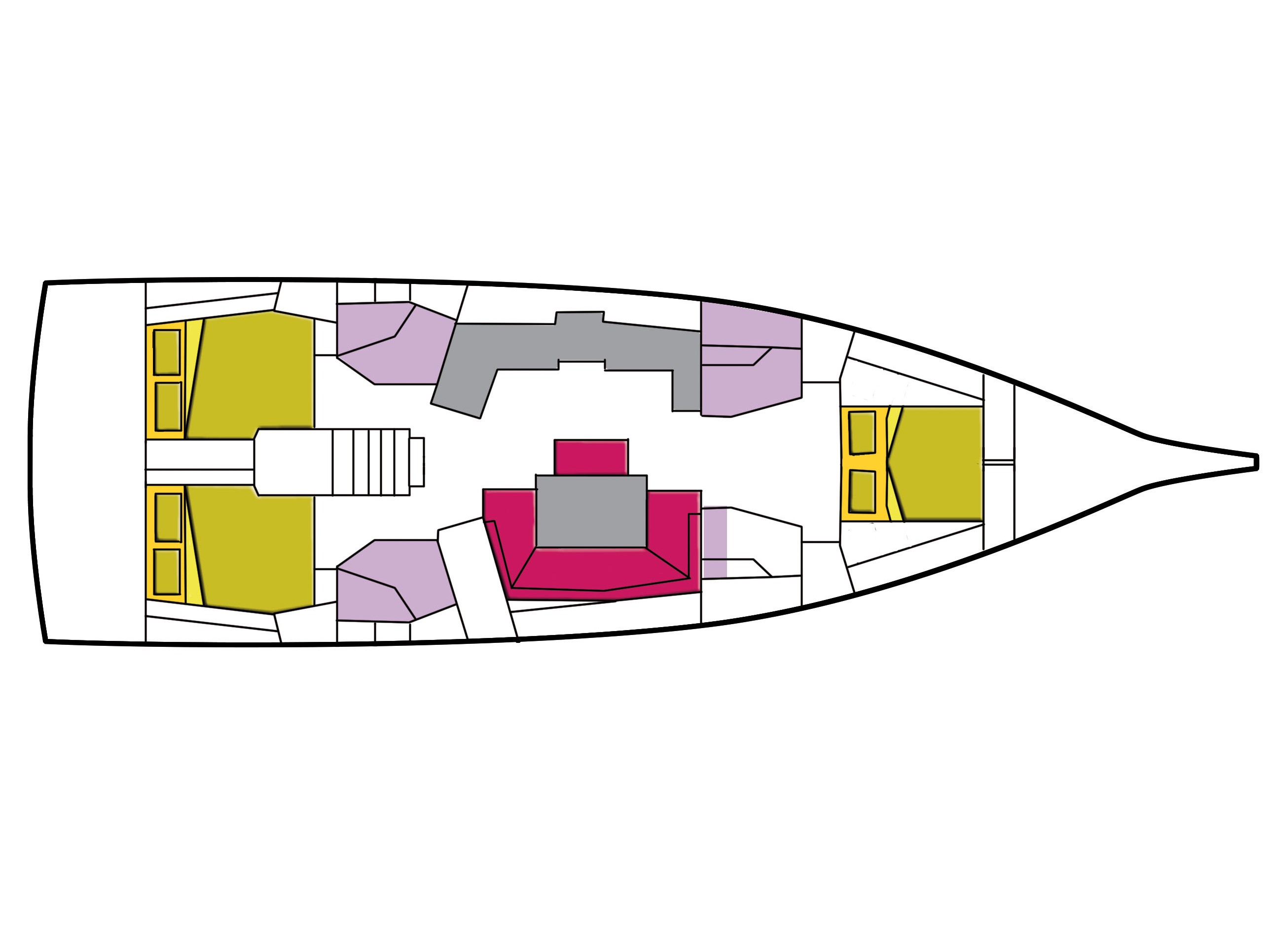 Oceanis 46.1 (3 cab)