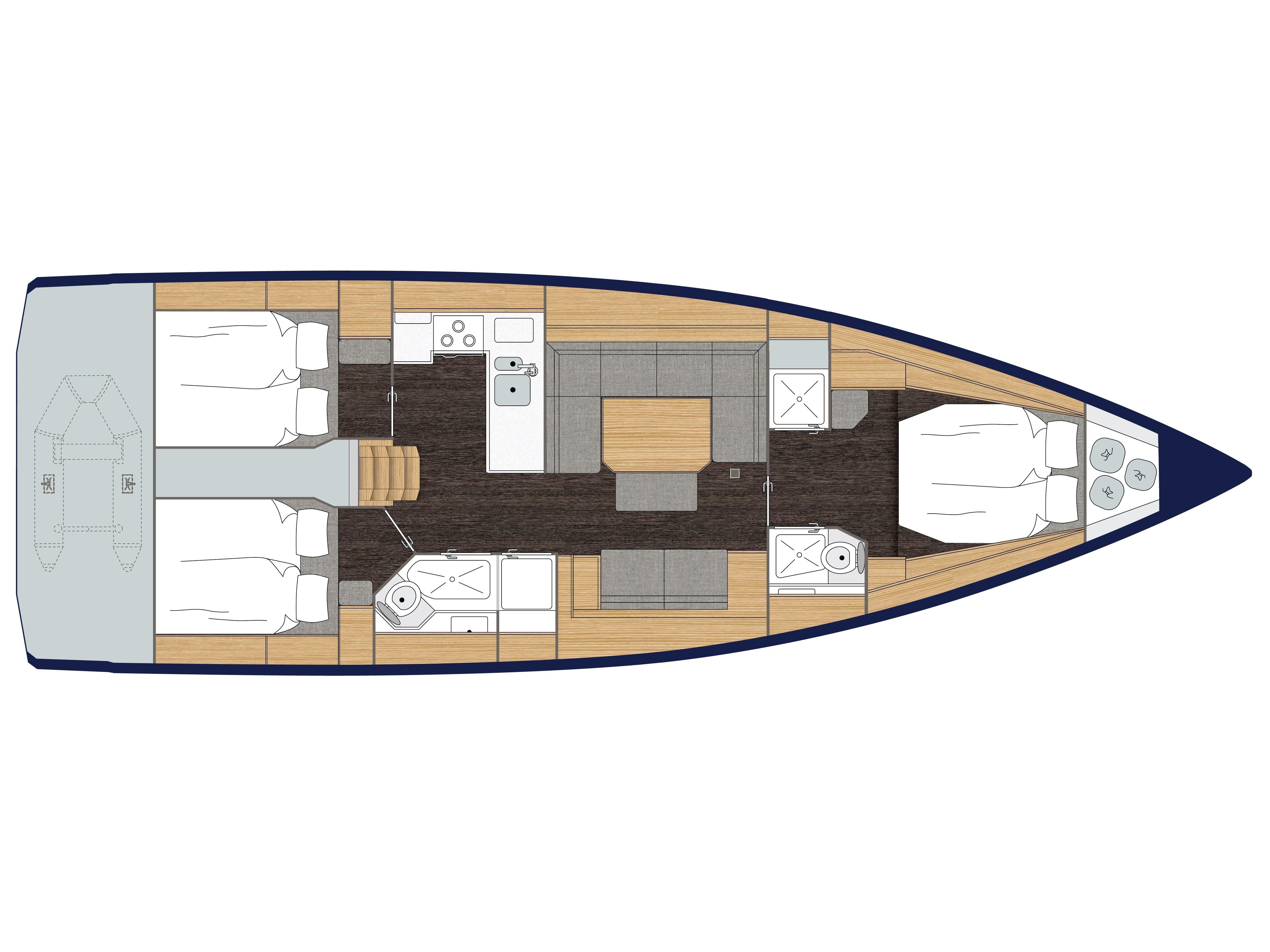 S/Y - Bavaria C45 Style - 3 Cabins - Built 2019