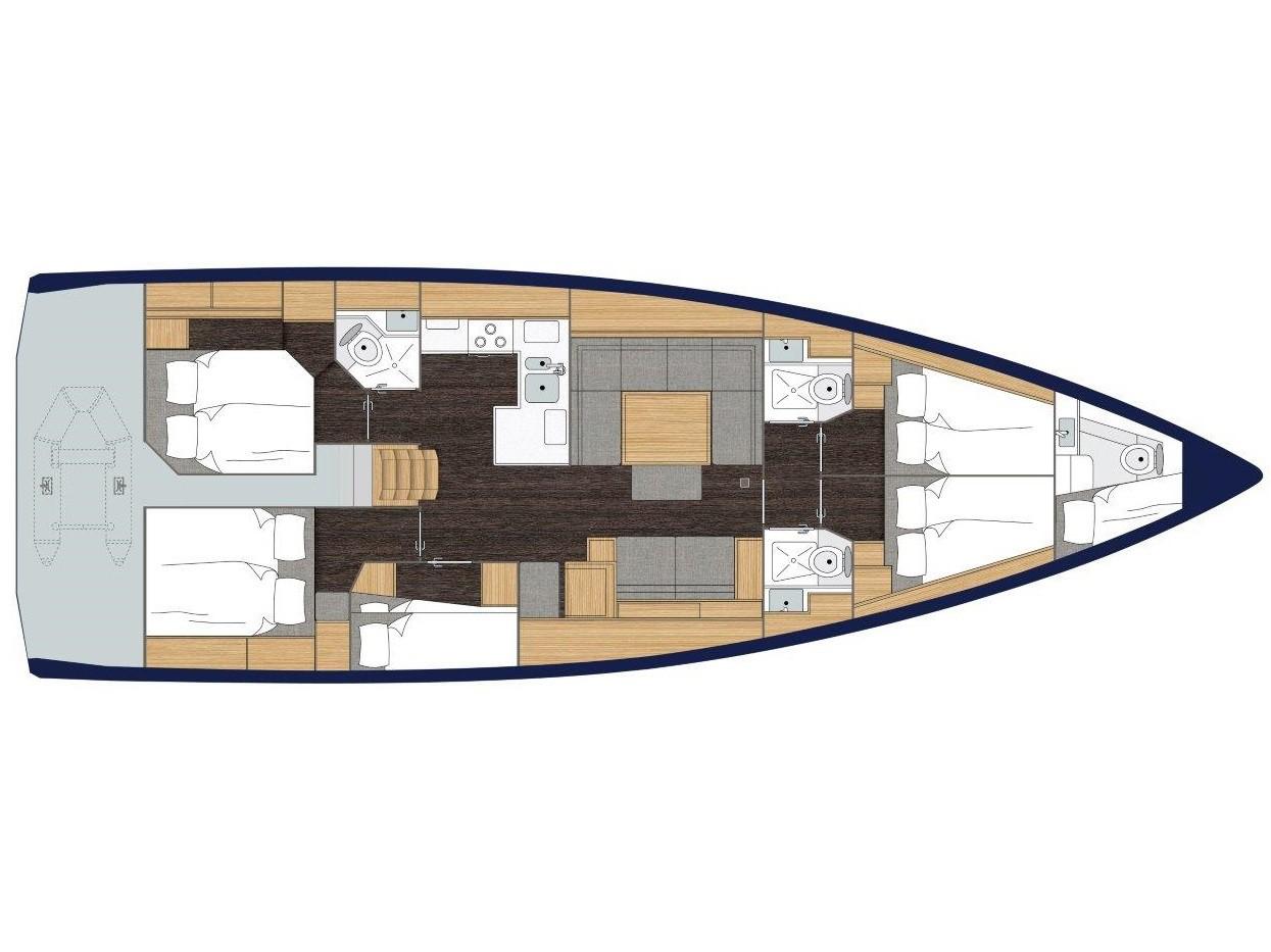S/Y - Bavaria C50 - 5 Cabins - Built 2020