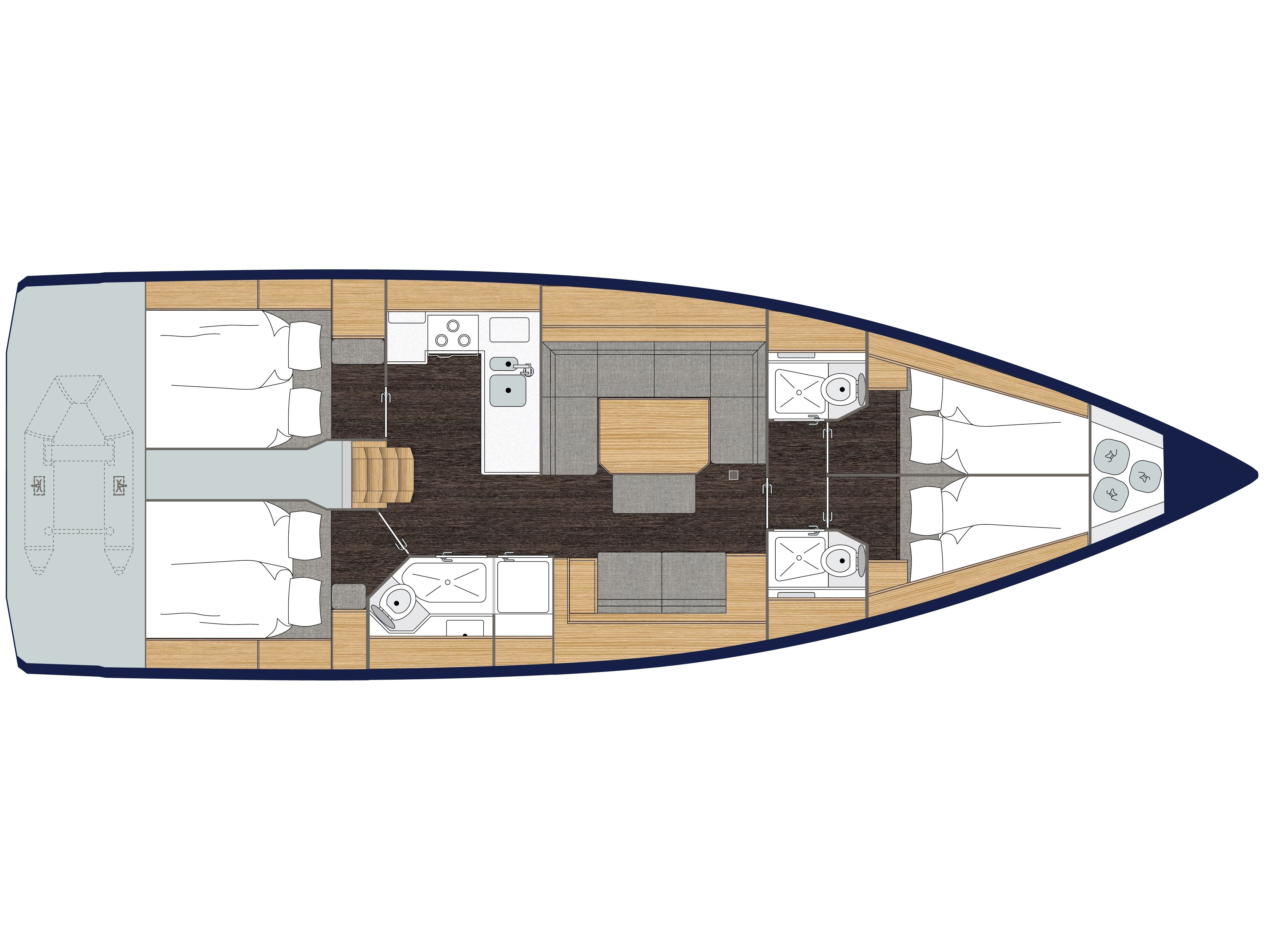 S/Y - Bavaria C45 - 4 Cabins - Built 2019