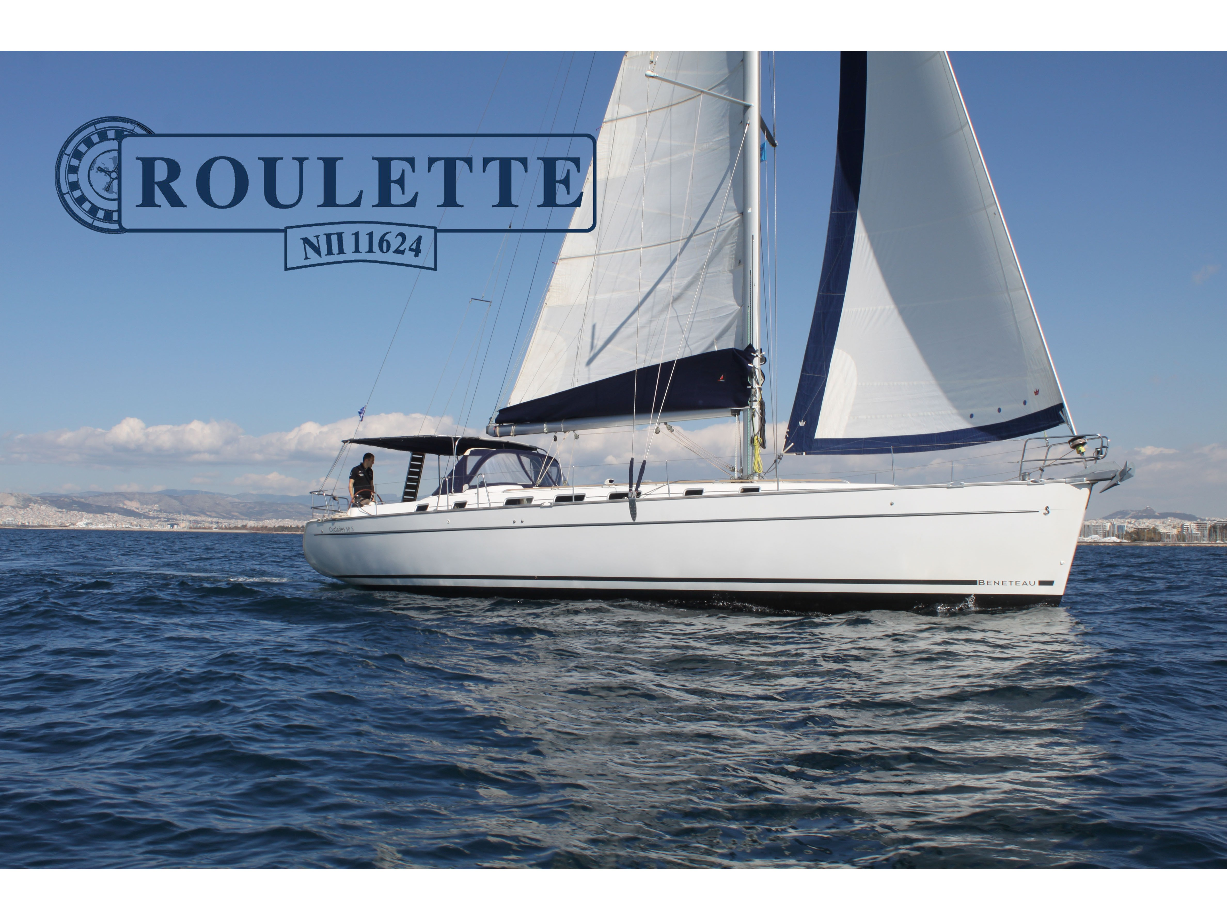 "Cyclades 50.5 ""Roulette - (A/C - Generator - Refit 2020)"", Athens"
