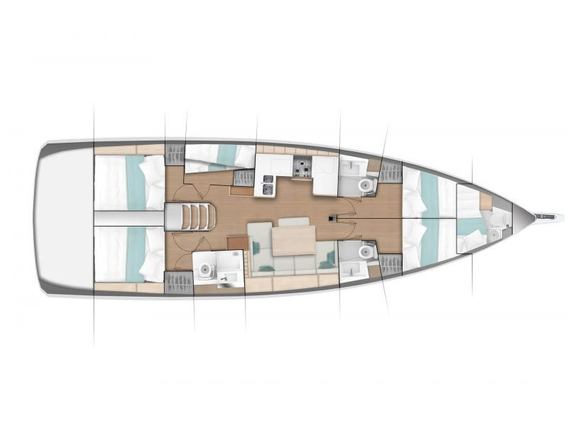 Sun Odyssey 490 6 cabins
