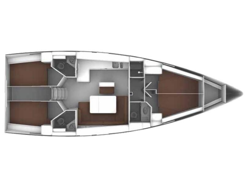 Bavaria 46 Cabin 3 ( double cabin)