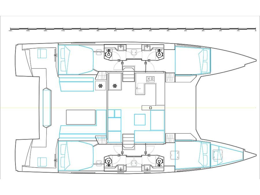 Catamaran - Nautitech 46 Fly - 4 Cabins - Built 2017