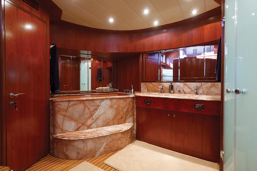 Johnson 87 Luxury yacht master bathroom